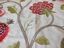 Colefax & Fowler Embroidered Fabric Sample - Paradise Garden