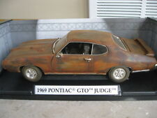 1:18 1969 Pontiac GTO Judge Barn Find Unrestored RAT ROD V-8 HOT Patina Diecast
