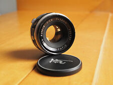 Olympus Pen F 38mm f/1.8 F Zuiko Auto S Manual Focus SLR Camera Lens