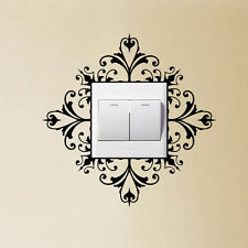 Light Switch  Wall Art Decal Sticker Scroll Damask Pretty Gift House Home