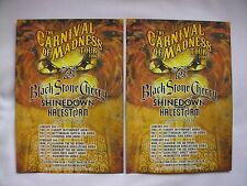Black Stone Cherry/Shinedown/Halestorm Carnival of Madness 2016 UK Tour flyers 2