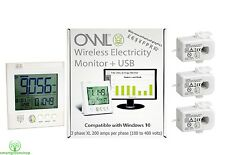 OWL+USB CM160 XL Three Phase (3 x 200 amp) Wireless Electricity Energy Monitor