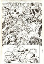 Deadpool's Art of War #2 p.17 Hulk Action Splash vs Loki 2014 by Scott Koblish