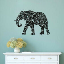 Tribal Wall Sticker Elephant Vinyl Wall Decor Indian Pattern Removable Art Decor