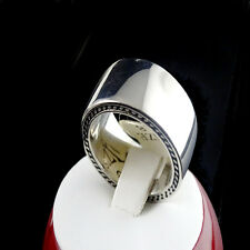 Solid Stainless Steel Wedding Engagement Ring Band Biker Strong  10 MM Size 8