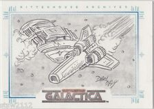 THE COMPLETE BATTLESTAR GALACTICA DAN DAY SKETCH A FEX CYLON RAIDER VIPER BATTLE