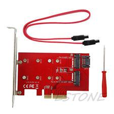 2Port M.2 NGFF B+M Key SSD to PCI-E PCI Express Adapter 4X 4 Lane Converter Card