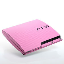 Pink Carbon PS3 slim Textured Skins -Full Body Wrap- decal sticker cover