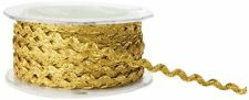 1/4 Inch wide Ric Rac Ribbon gold color price for 3 yards