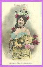 CPA- Bergeret - Langage de Flores - Crisantemo