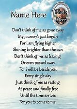 Personalised Photo Graveside Poem Memorial Card with Free Ground Stake F26