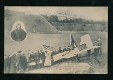 Aviation M. LOUIS BLERIOT 1st Channel Crossing Landing 1909 PPC + inset