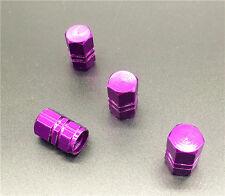4PCS  purple Aluminum Tire Wheel Rims Stem Air Valve Caps Tyre Cover Car