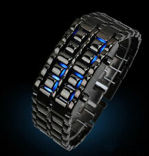 Women's Highly Polished Titanium Black LED Bracelet Watch