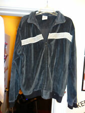 Simply for Sports Jacket Zip Front Mens Size Medium Navy Blue with Gray Stripe