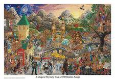 A Magical Mystery Tour (of 100 Beatles Songs) Poster Print 32x22