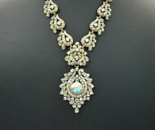 Fashion Wedding Party Yellow Mixed White Necklace With Earring Jewelry Set