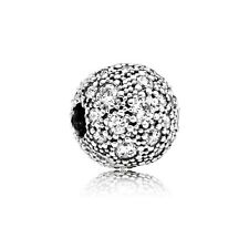Authentic Pandora Sterling Silver Cosmic Stars With Clear CZ Clip Bead 791286CZ