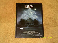 J. Geils Band sheet music FRIGHT NIGHT from film 1985 4 pages (VG+ shape)