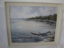 schönes Gemälde vom Bodensee  signiert-!