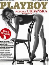 Playboy 9/2015 front Natasza Urbanska,in:Stephanie Branton,Sasha Eisman