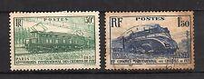 France : 1937 ( Yvert 339-340) Chemins de Fer ( Oblitéré ) used