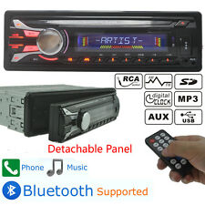 Hot Car Radio Bluetooth In Dash 12V SD/USB/AUX Stereo Headunit Detachable Face
