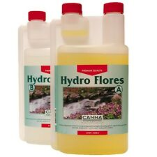 Canna Hydro Flores 1ltr A+B Nutrient for Flowering - Hydroponics - Soft Water