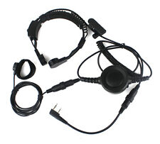 Military Covert Earpiece Tactical Throat Mic PTT for KENWOOD BAOFENG BF-888S TYT