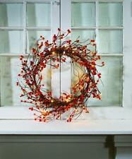 LIGHTED Bittersweet PIPBERRY WREATH. BATTERY OPERATED. PRIMITIVE COUNTRY WREATH
