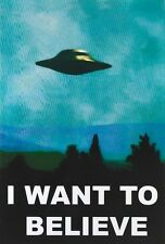X Files I Want to Believe Poster UFO Poster Print, 24x36