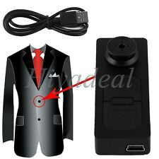 Mini Button Pinhole Spy Camera Hidden DVR PC Voice Camcorder 30fps Surveille WZN