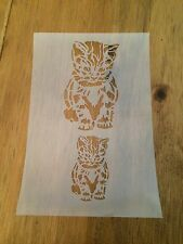 Cat Mylar Reusable Stencil Airbrush Painting Art Craft DIY Home Decor & more