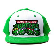 TEENAGE MUTANT NINJA TURTLES TMNT Faces & Logo Snapback Baseball Cap Green/White