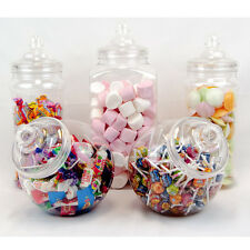 5x Large Vintage Retro Pick'n'Mix Jars Candy Buffet Sweet Shop Wedding Kids Kit