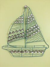 Nautical Gems Jeweled Sailboat Wall Art Seaside Shore Coastal Beach Wall Decor