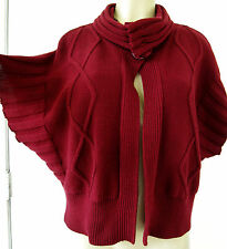 ❤️ Coco + Capers RED Oversized Dolman Cocoon Style Cardigan Sweater sz L-----#93