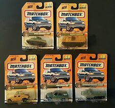 NEW -Vintage 1999 Matchbox Military Series 11 - #'s 51,52,53,54 & 55-SEALED