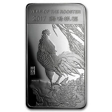 10 oz Silver Bar - APMEX (2017 Year of the Rooster) -  SKU #101673