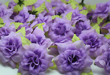 light purple 10pcs artificial Silk Flower rose flower head DIY wedding supplies