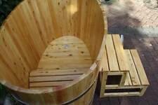 TUBOC Sauna Tauchbecken Zuber Badezuber Tauchbottich  Holzbadewanne L=127cm