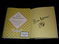 Jeff The 420 Chef signed The 420 Gourmet 1/1 hardcover book Cannabis Cuisine