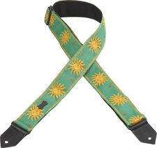 Levy's M8 Sun Green Jacquard Weave Guitar Strap