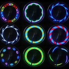 Fashion 14 LED Motorcycle Cycling Bicycle Bike Wheel Tire Spoke Light 30 Changes