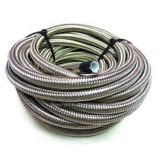 AN -12 AN12 5/8 16MM Stainless Steel Braided PTFE Fuel Hose Pipe 3 Metre