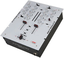 Precision Power INNOMIX2WHITE Epsilon Ultra Compact Pro Dj Battle Mixer With