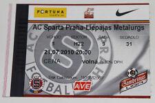 Ticket for collectors CL Sparta Praha Czech - Metalurgs Liepaja Latvia