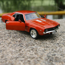 """Chevrolet CAMAR0 SS 1969 Alloy Diecast Model Car 5"""" Bright orange Collection Toy"""