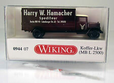 "Wiking 094407 Mercedes L 2500 Koffer-LKW "" Spedition Hamacher "" - Scale 1/160  N"