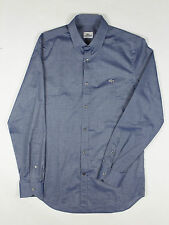 Lacoste - Blue Long Sleeve City Shirt - Size 39 / S-M - *NEW WITH TAGS* RRP £110